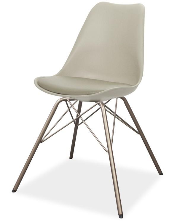 Jídelní židle GINA 9361-883+PORGY 9346-888 (béžová,bronz)