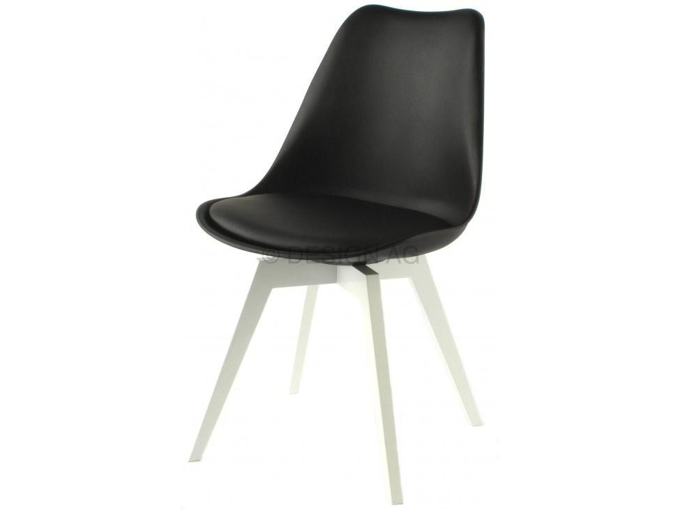 Jídelní židle Gina Bess (sedák černá / konstrukce bílá)