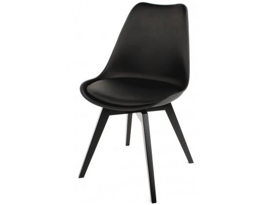Jídelní židle Gina Bess (sedák černá / konstrukce černá)