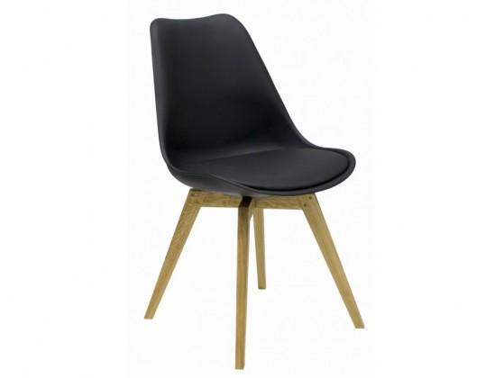 Jídelní židle Gina Bess (sedák černá / konstrukce dub)