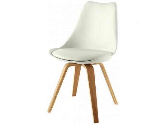 Jídelní židle Gina Ella (sedák bílá / konstrukce dub)