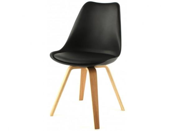 Jídelní židle Gina Ella (sedák černá / konstrukce dub)
