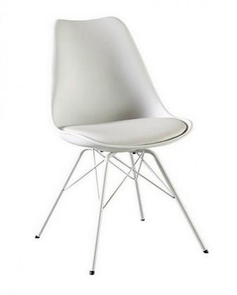 Jídelní židle Gina Porgy (sedák bílá / konstrukce bílá)