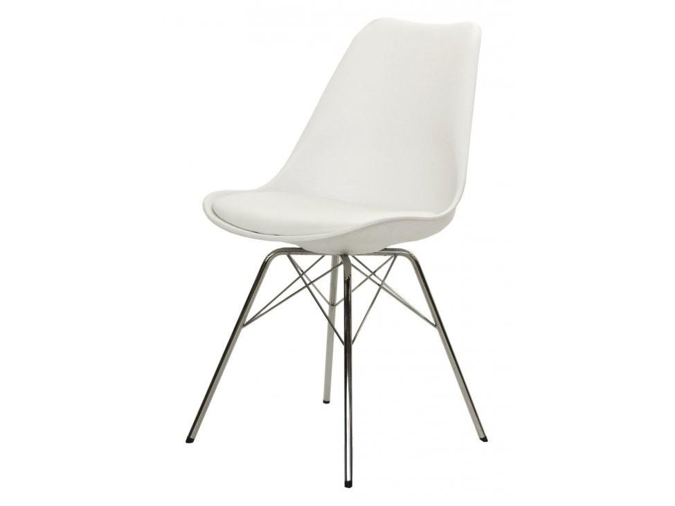 Jídelní židle Gina Porgy (sedák bílá / konstrukce chrom)