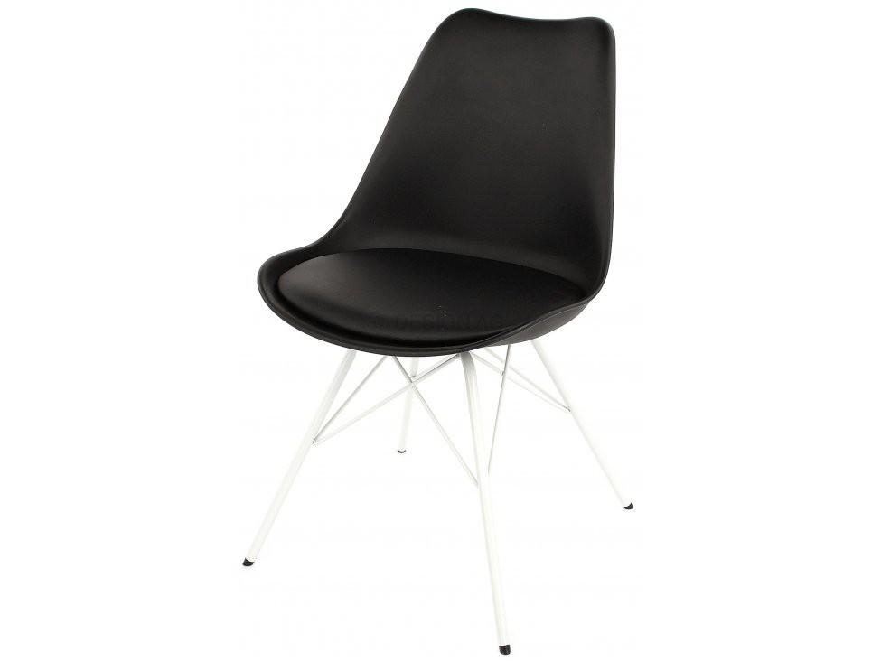 Jídelní židle Gina Porgy (sedák černá / konstrukce bílá)