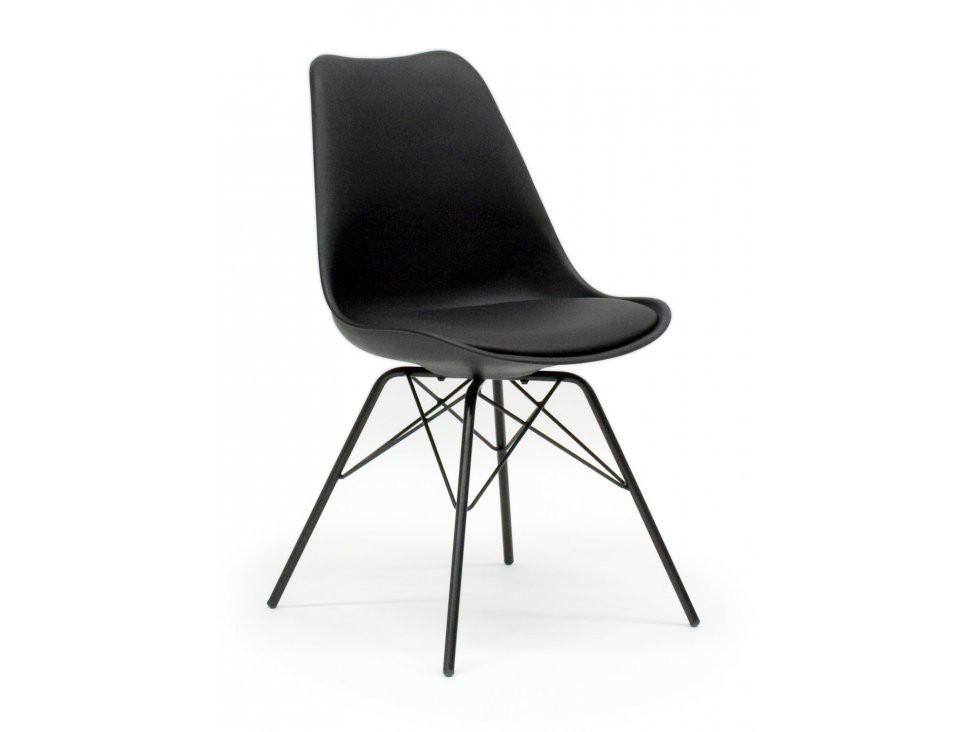 Jídelní židle Gina Porgy (sedák černá / konstrukce černá)