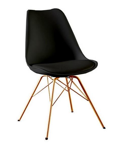 Jídelní židle Gina Porgy (sedák černá / konstrukce měď)