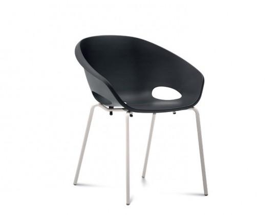 Jídelní židle Globe - Jídelní židle (lak bílý, černá)