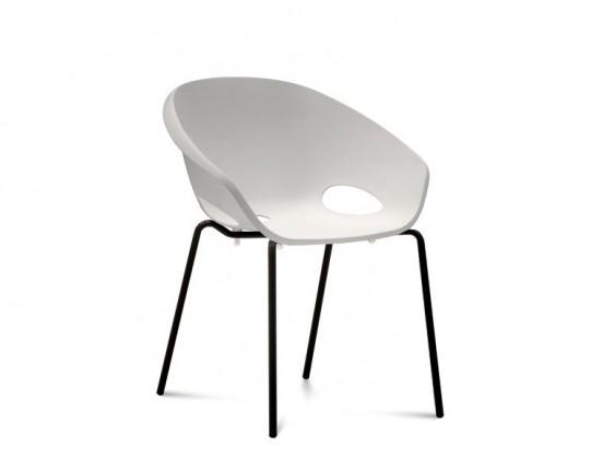 Jídelní židle Globe - Jídelní židle (lak černý, bílá)
