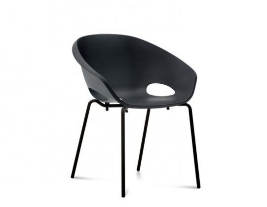 Jídelní židle Globe - Jídelní židle (lak černý, černá)