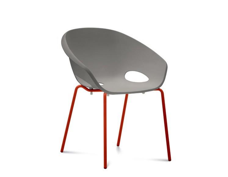 Jídelní židle Globe - Jídelní židle (lak červený, písková)