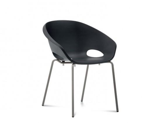 Jídelní židle Globe - Jídelní židle (lak pískový, černá)