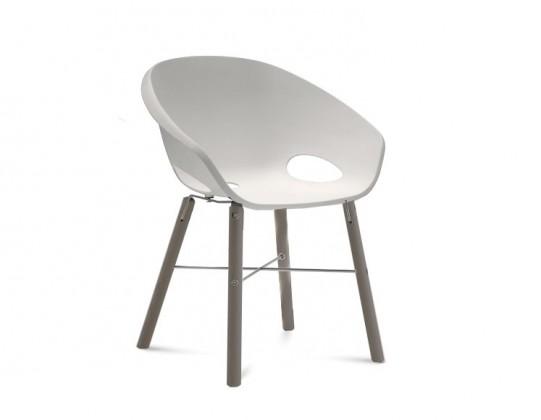 Jídelní židle Globe-L - Jídelní židle (antracit lak, hliník, bílá)