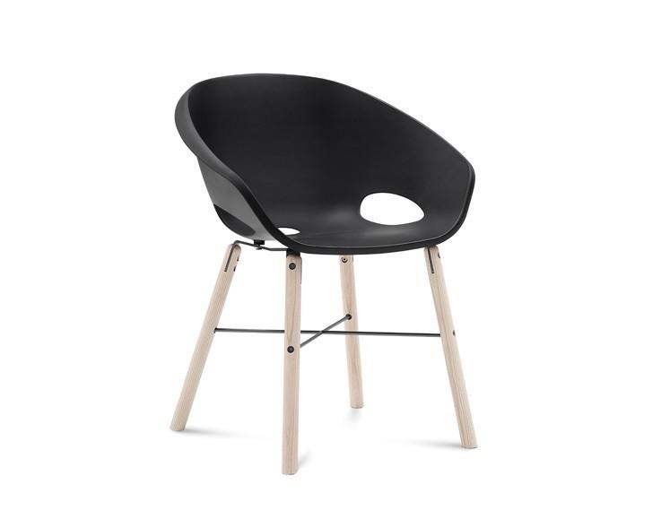 Jídelní židle Globe-L - Jídelní židle (bílý jasan, antracit lak, černá)