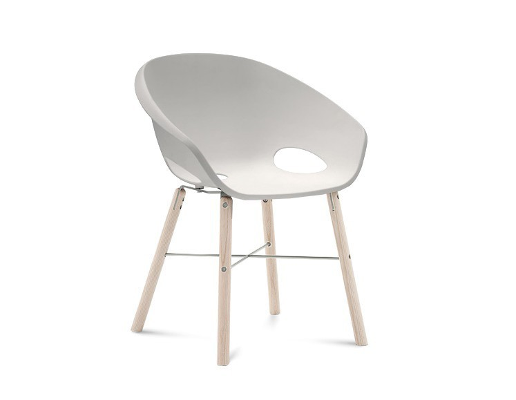 Jídelní židle Globe-L - Jídelní židle (bílý jasan, hliník, bílá)