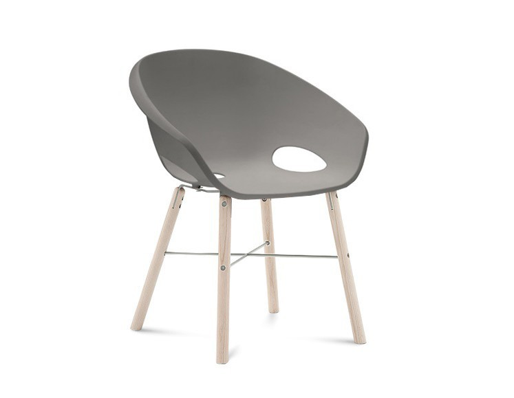 Jídelní židle Globe-L - Jídelní židle (bílý jasan, hliník, písková)