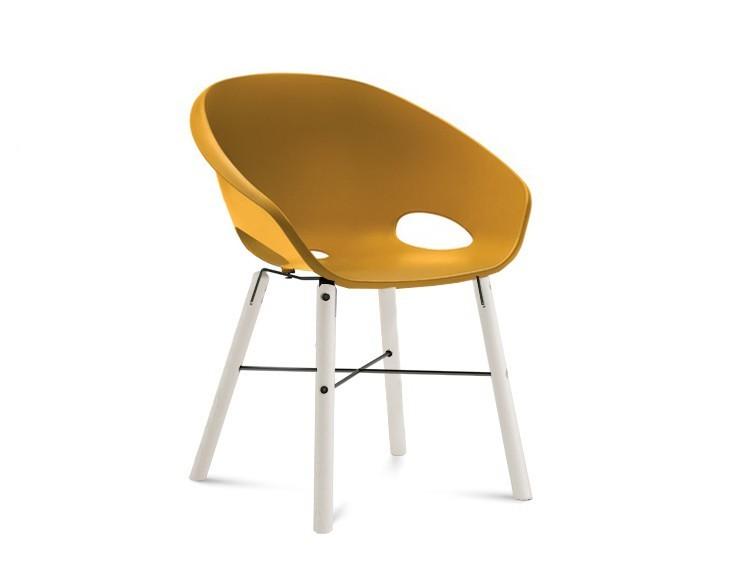 Jídelní židle Globe-L - Jídelní židle (bílý lak, antracit lak, hořčicová)