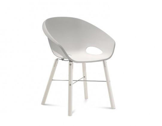 Jídelní židle Globe-L - Jídelní židle (bílý lak, hliník, bílá)