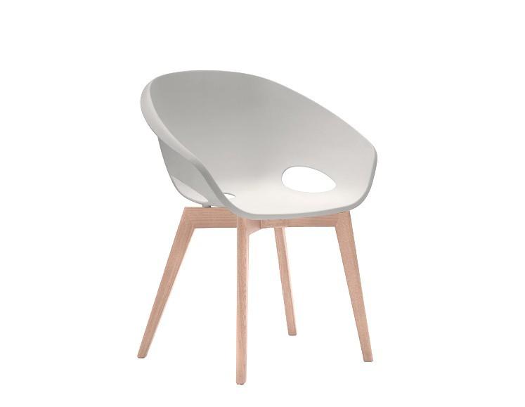 Jídelní židle Globe-LG - Jídelní židle (bělený dub, bílá)