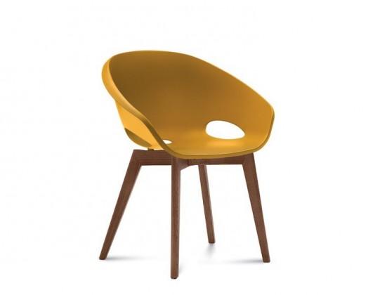 Jídelní židle Globe-LG - Jídelní židle (ořech, hořčicová)