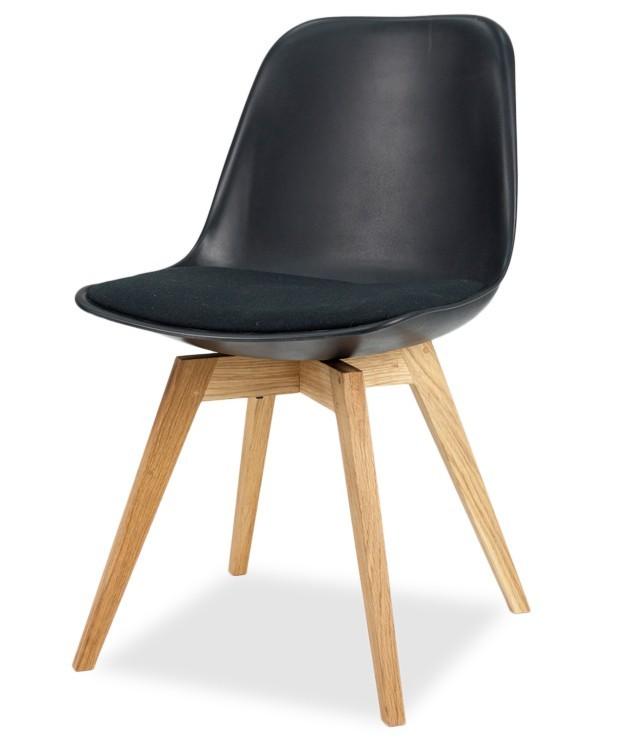Jídelní židle GRACE 9360-124+BESS 9347-054 (černá,dub)