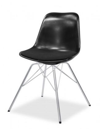 Jídelní židle GRACE 9360-124+PORGY 9346-091 (černá,chrom)