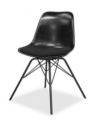 Jídelní židle GRACE 9360-124+PORGY 9346-824 (černá,černá)
