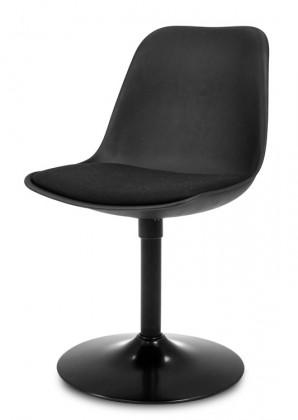 Jídelní židle GRACE 9360-124+TRUMPET 9341-824 (černá,černá)