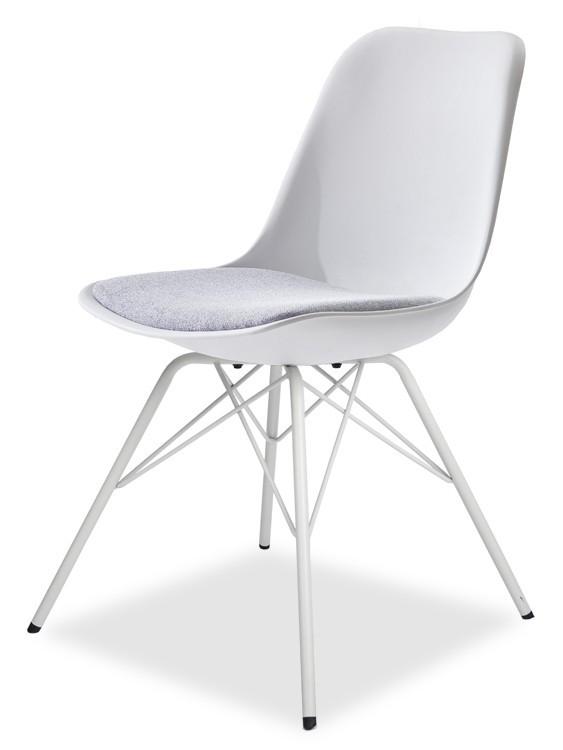 Jídelní židle GRACE 9360-413+PORGY 9346-801 (bílá,šedá,bílá)