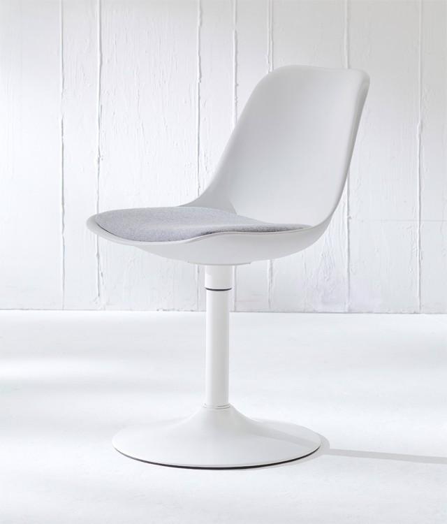 Jídelní židle GRACE 9360-413+TRUMPET 9341-801 (bílá,šedá,bílá)