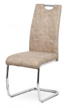 Jídelní židle Grama krémová/chrom