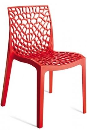 Jídelní židle Gruvyer (červená)