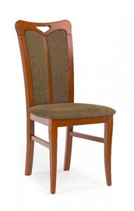 Jídelní židle Hubert 2  (hnědo-zelená torrent garden, třešeň antik)