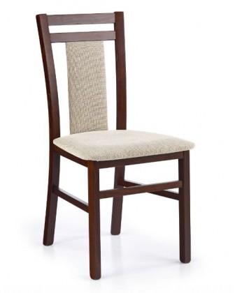 Jídelní židle Hubert 8  (béžová vila 2, ořech tmavý)