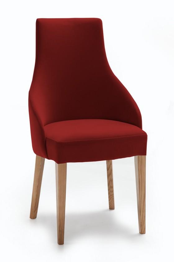 Jídelní židle Isabela (dub/látka carabu karmínová)