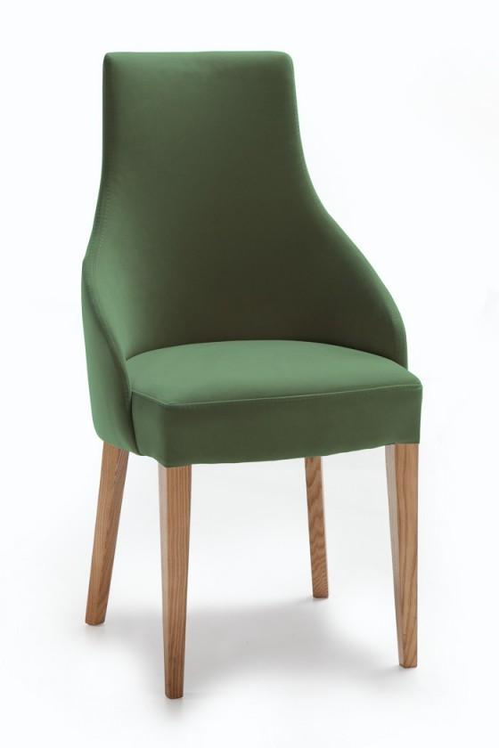 Jídelní židle Isabela (dub/látka carabu zelená)