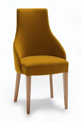 Jídelní židle Isabela (dub/látka navara hořčicová)