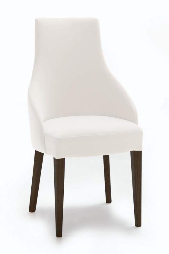 Jídelní židle Isabela (wenge/eko kůže vienna bílá)