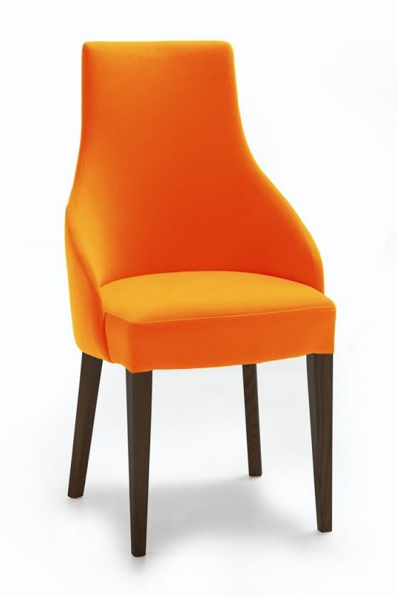 Jídelní židle Isabela (wenge/látka carabu šedá)