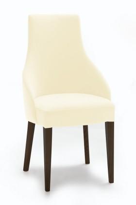 Jídelní židle Isabela (wenge/látka carabu světle béžová)