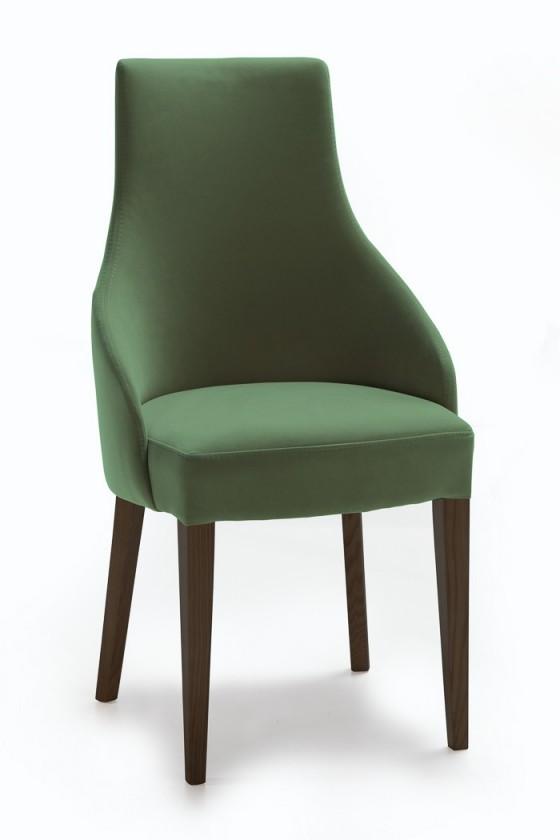 Jídelní židle Isabela (wenge/látka carabu zelená)