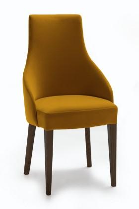 Jídelní židle Isabela (wenge/látka navara hořčicová)