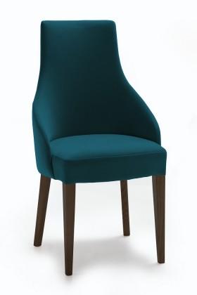 Jídelní židle Isabela (wenge/látka navara petrolejová)