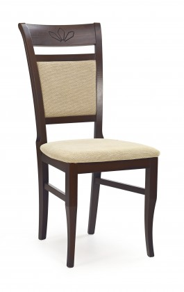 Jídelní židle Jakub (ořech tmavý/béžová torent)