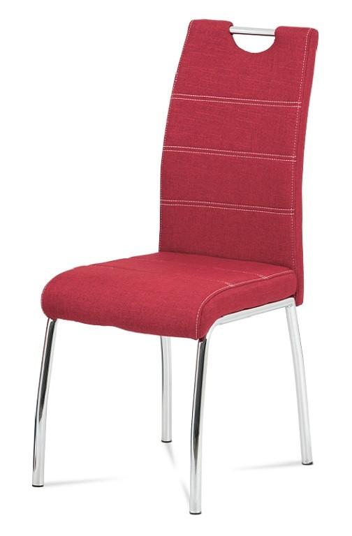Jídelní židle Jídelní židle Gasela červená/chrom