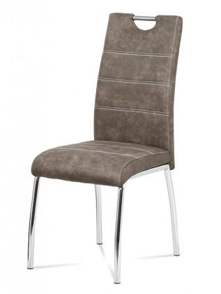 Jídelní židle Jídelní židle Gasela hnědá/chrom