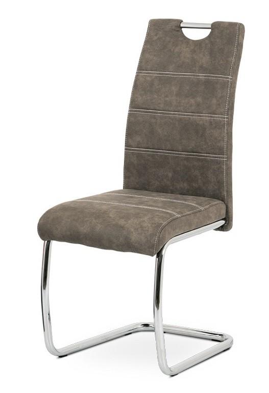 Jídelní židle Jídelní židle Grama hnědá/chrom