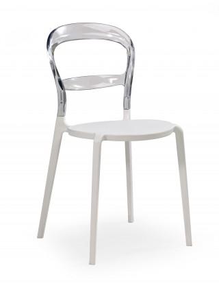 Jídelní židle Jídelní židle K100 bílá, transparentní
