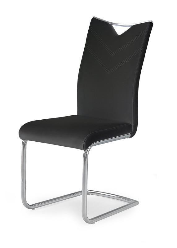 Jídelní židle Jídelní židle K224 (černá, stříbrná)