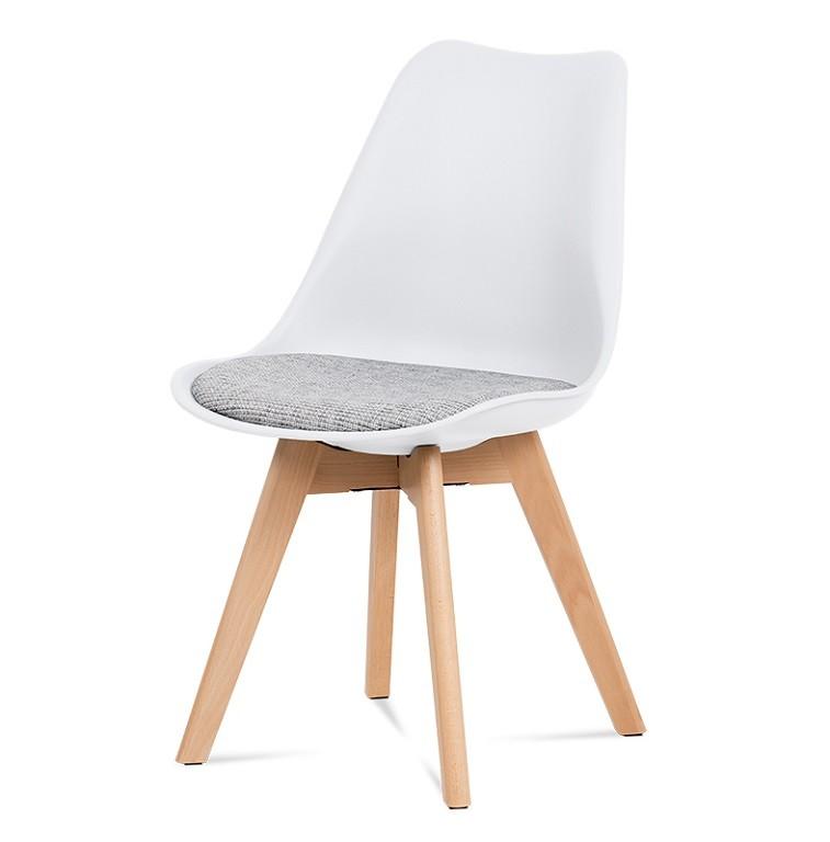 Jídelní židle Jídelní židle Lupa bílá, šedá